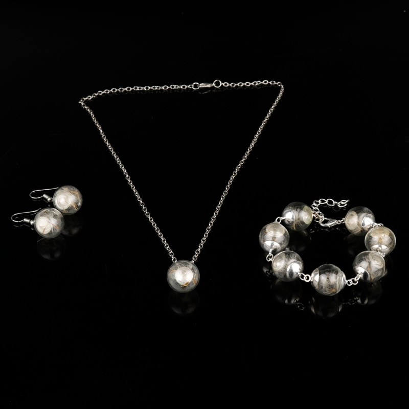 Dongsheng, collares de diente de león a la moda con bolas de cristal, collares de 30