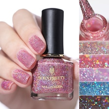 GEBOREN ZIEMLICH Nagellack 6ml Holo Glitter Nail art Lack Shiny Nail lack DIY Designs