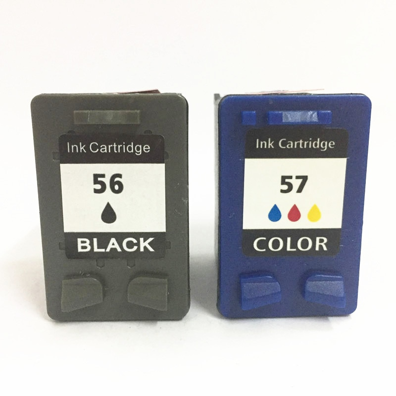 Vilaxh 56 57 Compatible cartucho de tinta HP 56 57 para PSC 1350 de 2110 de 2310 Deskjet serie 5150 450CI 9600 9650 F4180 impresora