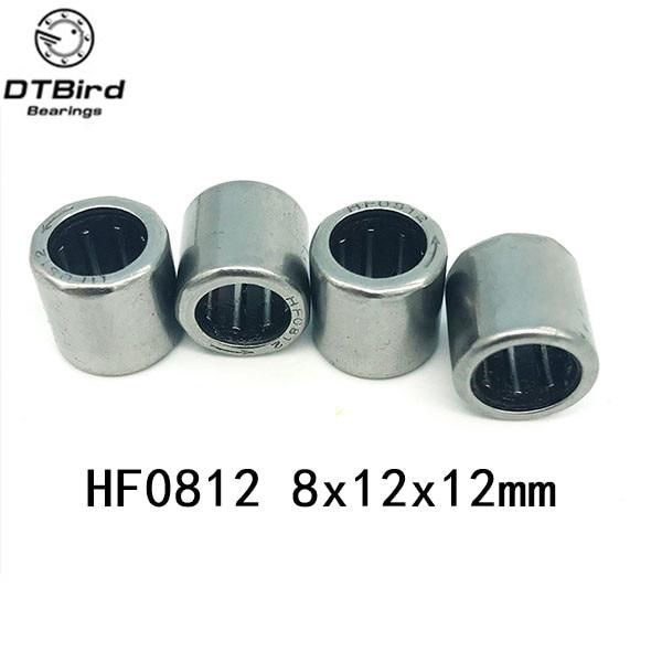 Envío Gratis HF0812 (8X12X12MM ) HF081212 rodamiento de agujas del embrague unidireccional 10 unids/lote