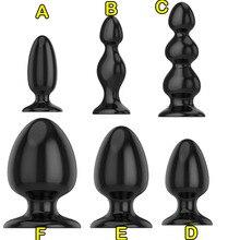 Super grand godemichet Anal 6 tailles choisir des perles anales Dilatador Plug Anal Plug Anal masseur de Prostate jouets sexuels pour les Couples