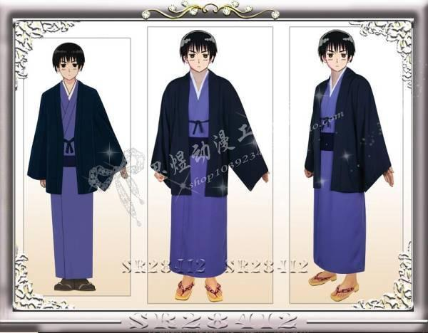 APH Hetalia Japón Honda Kiku Cosplay Japón Kimono/Samurai traje de Cosplay traje