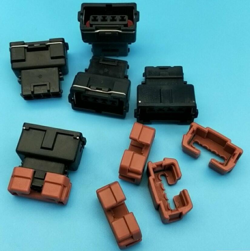 Envío Gratis 5 uds 4 Pin Auto conector hembra 10378 para Toyota 4 edad 16V TPS Mitsubishi KA24 SR20 MAF EVO Lancer TPS conector
