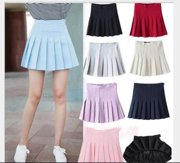 Dulce Falda plisada para mujeres estilo Preppy Mini falda de cintura alta chicas Vintage negro blanco Cute uniformes de escuela falda
