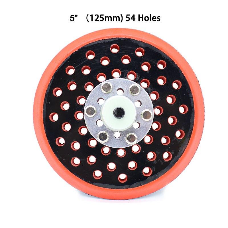 1 unidad de 5 pulgadas, piezas de lijadora neumática, almohadilla de disco de espuma pulida de 125MM con 54 agujeros