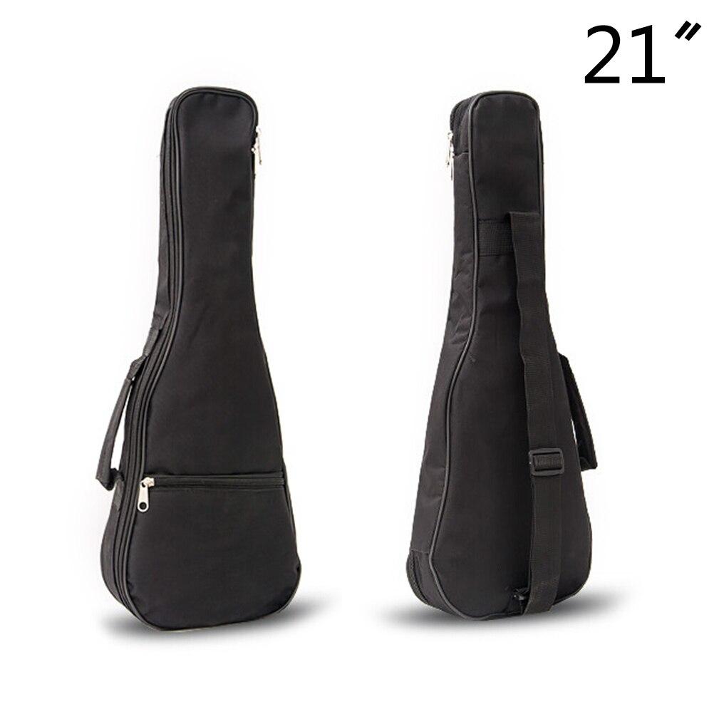 21 inch Ukulele Waterproof Guitar Cover Gig Bag Soft Case Light Gear -Black