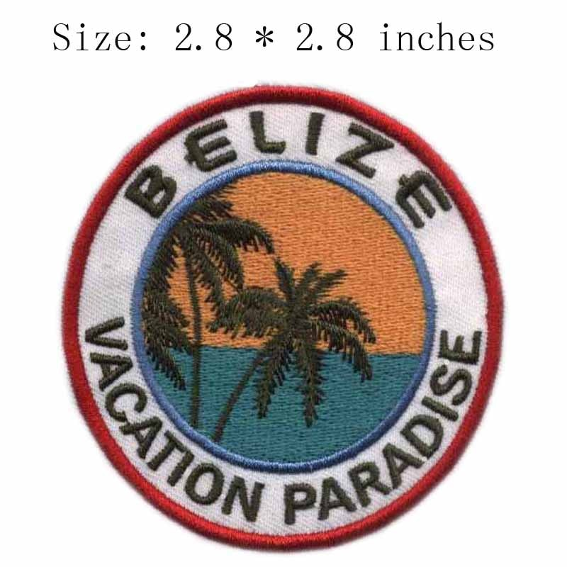 Parche bordado ancho de 2,8 pulgadas para costura/agujas para fieltrar/haaknaalden de Belice