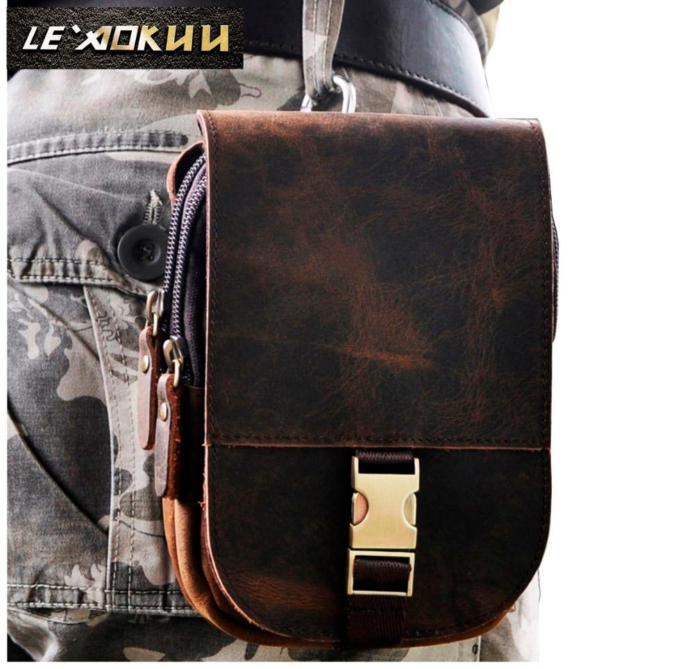 Натуральная кожа воловья кожа ретро мужской дизайн повседневное ежедневное использование маленькая поясная сумка модный 5