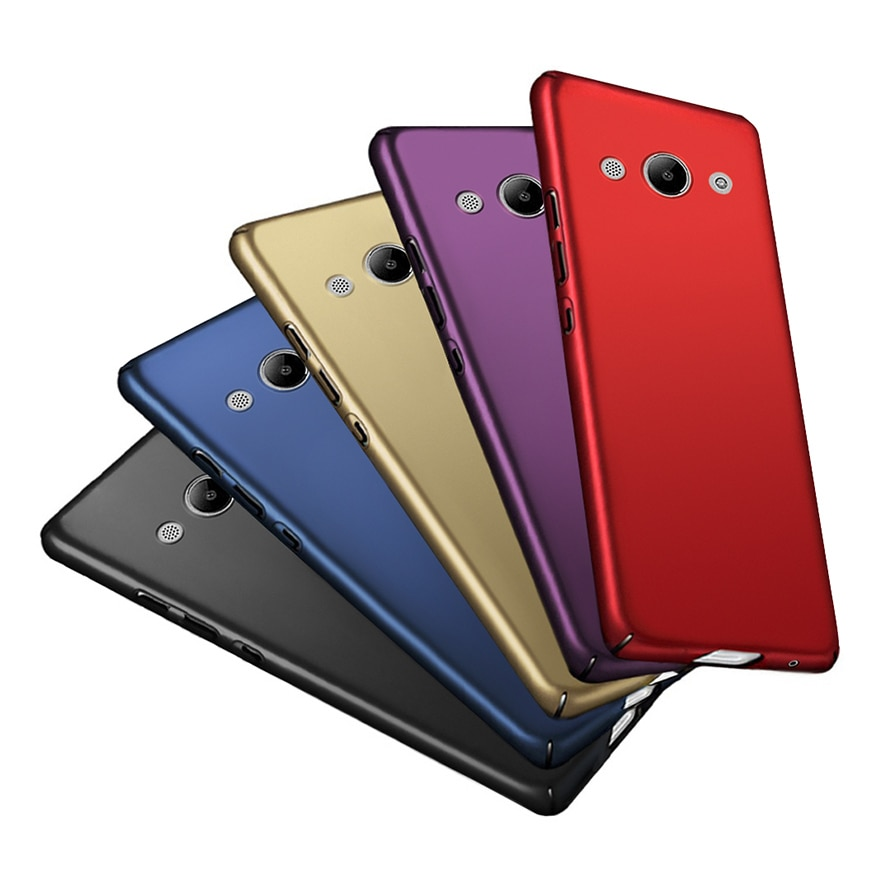 De moda de Teléfono de lujo para Huawei Y3 Y 3 2017 360 agradable funda trasera de plástico duro caso de Huawei Y3 2017 CRO-u00 CRO-L102