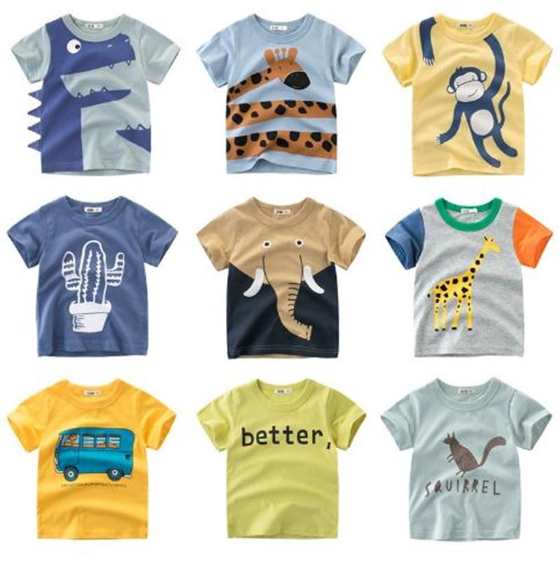Summer Children Clothing Boys T Shirt Cotton Dinosaur Short Sleeve T-shirt Kid Boy Casual Cute T-shirt 1-8Years Shirt