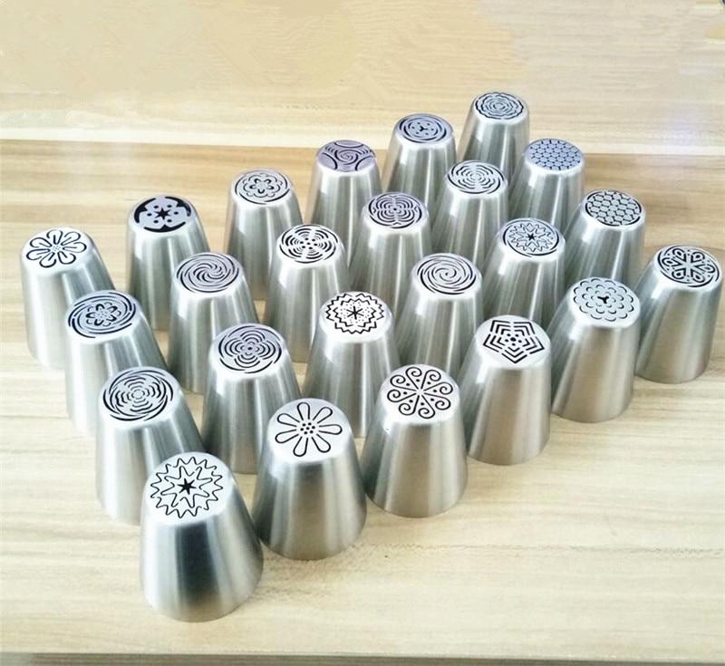 Novedad en 24 diseños a elegir, boquillas rusas para tulipán, boquillas para glaseado, boquillas para tarta, herramientas de decoración