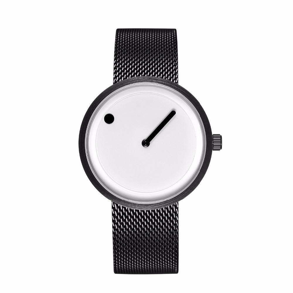 Minimalist style creative wristwatches black & white new design simple stylish quartz fashion watches gift Relogio Feminino