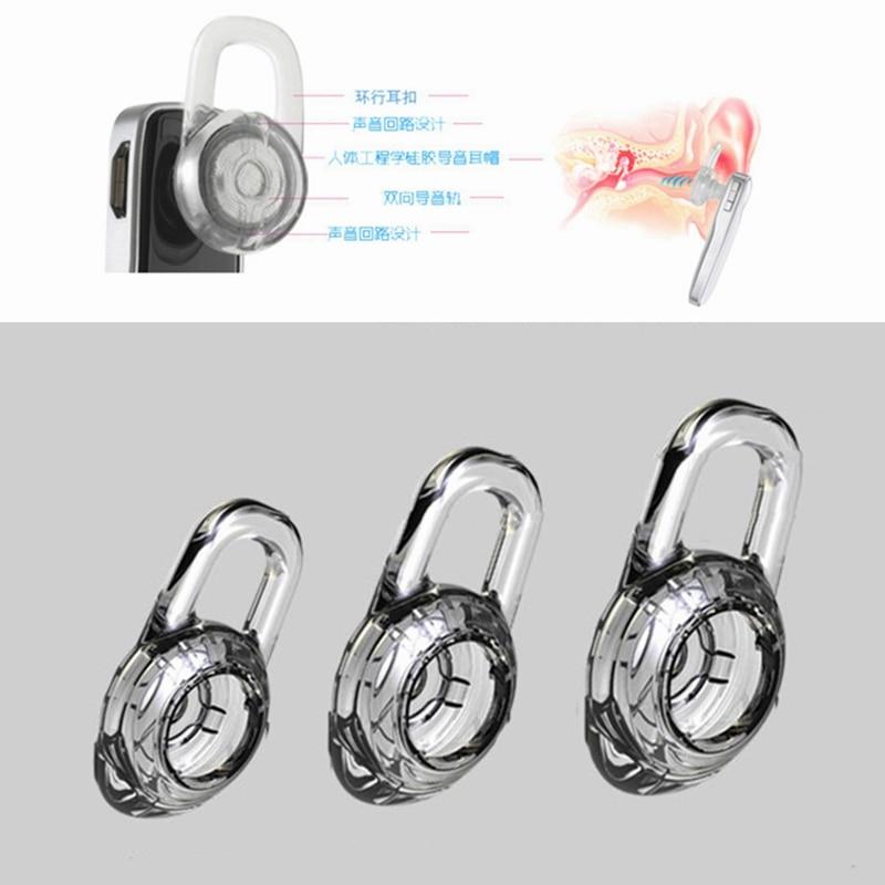 Aipinchun 3 pcs Silicone Gel Pads Ear Buds Dicas Earbuds Eartips para M165 M155 SAVOR M1100 M25 M28 M55 M100 Fone De Ouvido fone de ouvido