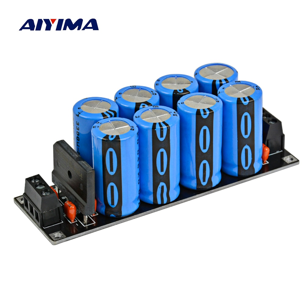 AIYIMA Assembled amplifier 25A Rectifier Filter Fever Capacitor filter Rectifier Power Supply diy pcb board for 62pcs capacitor array power supply rectifier board