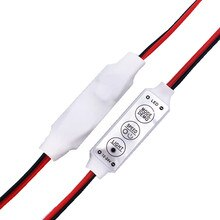 1 Uds Color único faxanon controlador Dimmer interruptor 12V DC 3 Llaves para 5050, 3528, 5630, 5730 de 3014 lámparas de tira LED de iluminación