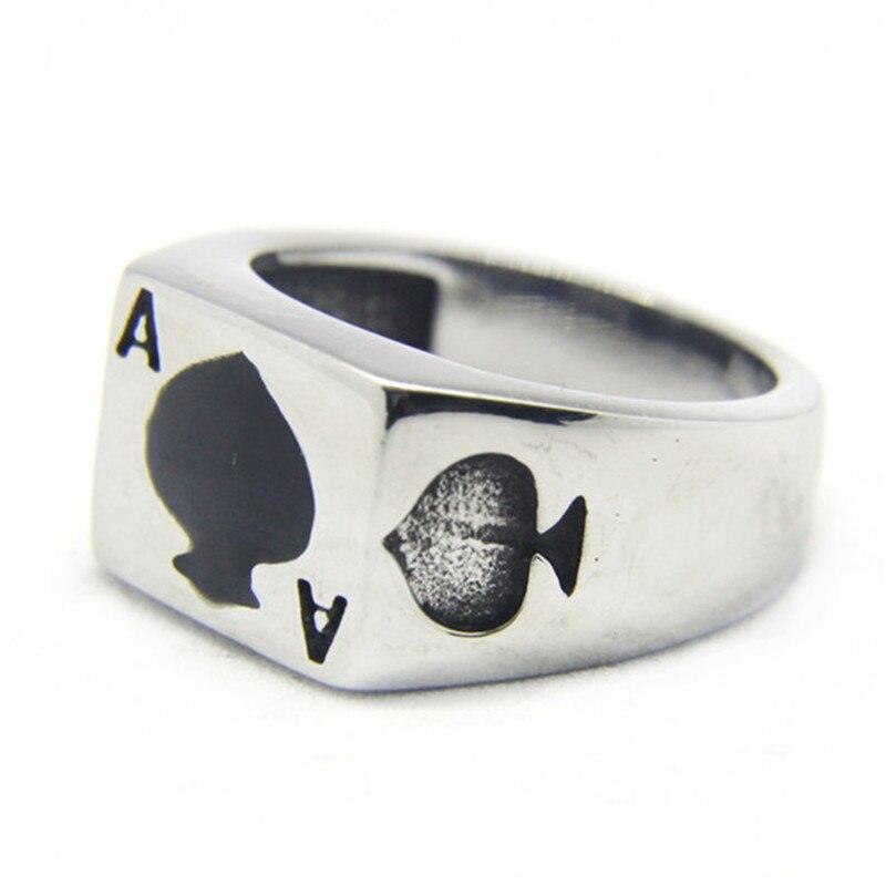 Кольцо для покера, из нержавеющей стали 316L, для вечеринок, Размер 7-13