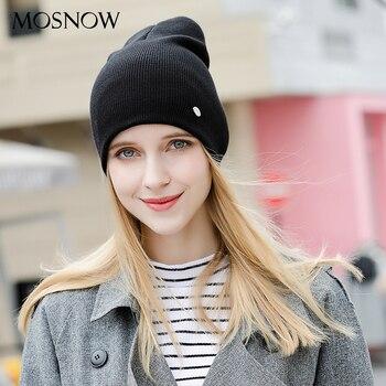 Hat Female Cotton Brand New 2019 Winter Knitted Hot Sale Fashion High Quality Women's Hats Caps Skullies Bonnet #MZ238D