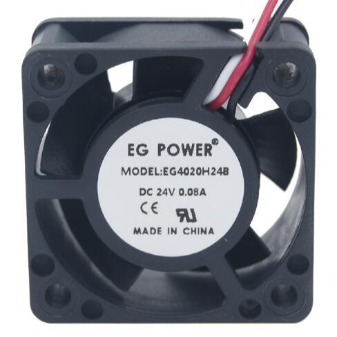 EG POWER 4CM 4020 24V EG4020H24B ventilador de refrigeración industrial de tres cables con doble bola