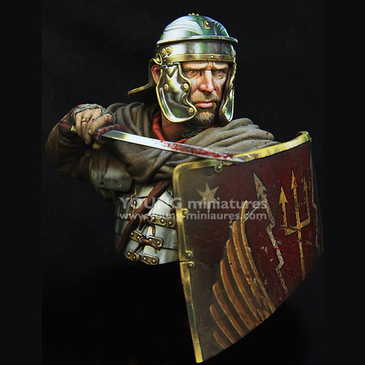 Busto GK, kit de resina a escala 1/10, legionario romano del siglo 1st, temas historicos, sin montar y kit sin pintar
