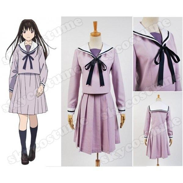 Manga de fantasía Noragami Hiyori Iki Cosplay disfraz Noragami Stray God Hiyori Iki Sailor mujeres niñas vestido Cosplay