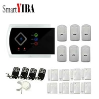 SmartYIBA     systeme dalarme de securite domestique sans fil  GSM  433MHZ  SMS  anti-cambriolage  avec telecommande  application  russe  espagnol  italien  francais