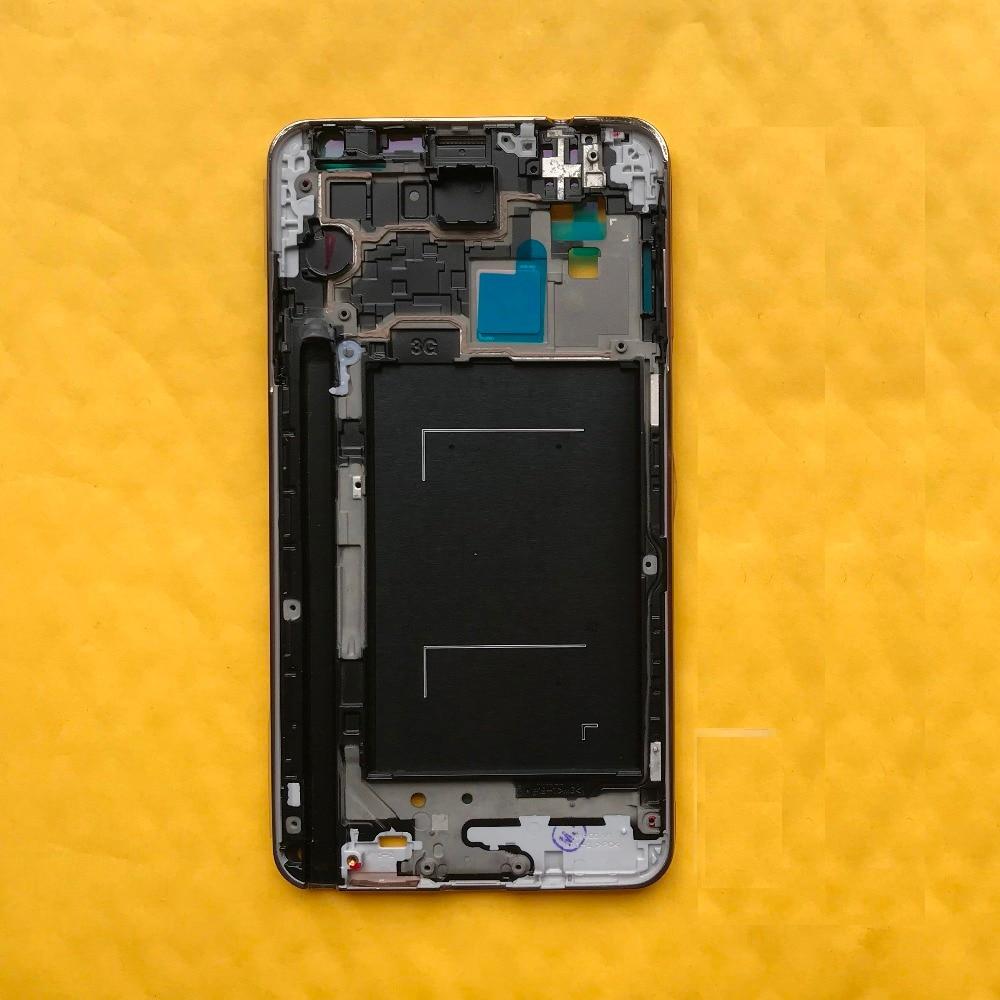 Оригинальный корпус телефона Панель рамка для Samsung Galaxy Note 3 N9005 N900 N900V N900A N900T средняя рамка крышка с кнопками