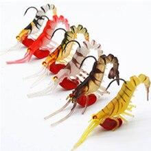Darmowa wysyłka 6 sztuk 13g 19g krewetki połowów przynęty, rzeka krewetki połowów craws słonowodne leszcz przynęty z świecące oczy