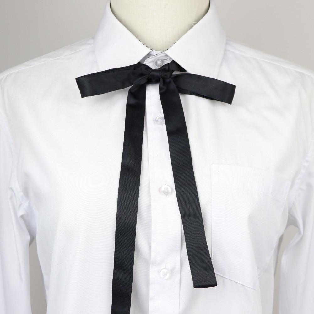 Corbata de lazo pequeña de moda bonita cinta de color liso mariposa pajarita de moño corbata de mujer
