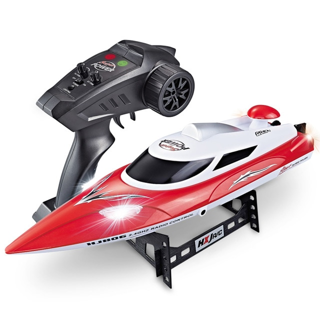 35km/h 2.4G 200m RC Distance RC Boat Fast Ship With Cooling Water System Boat Night Light Double Layer Waterproof Boat Speedboat enlarge