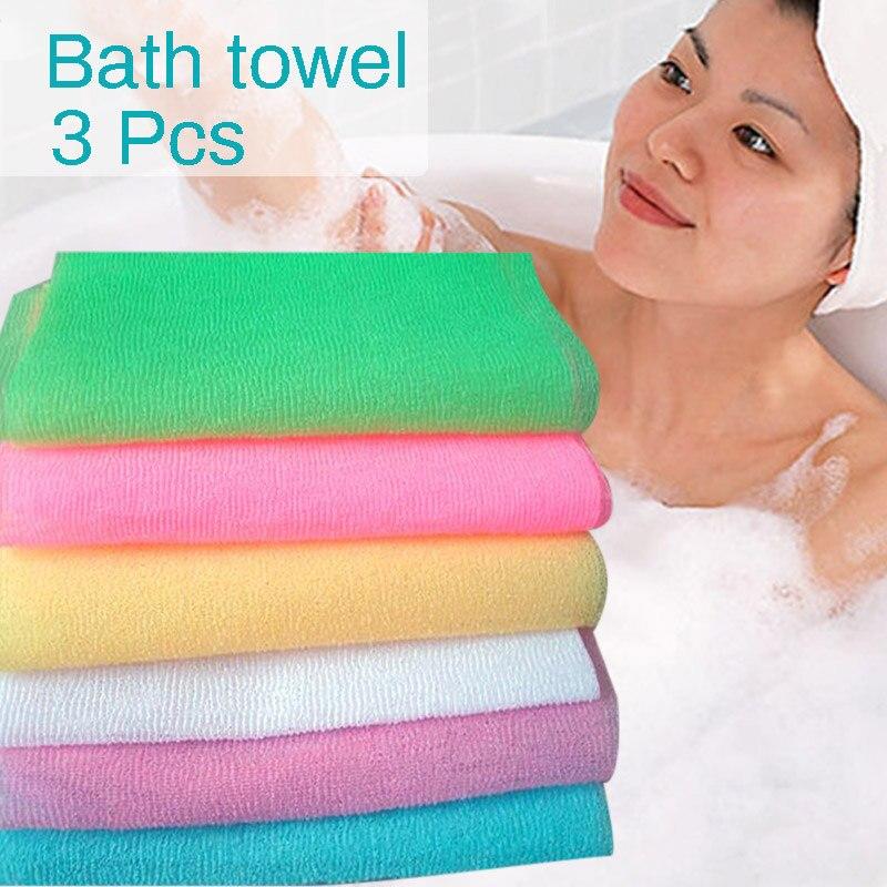 Paño de lavado suave de nailon, Toalla de baño, belleza corporal, piel exfoliante, lavado de baño de ducha, FP8 OC31