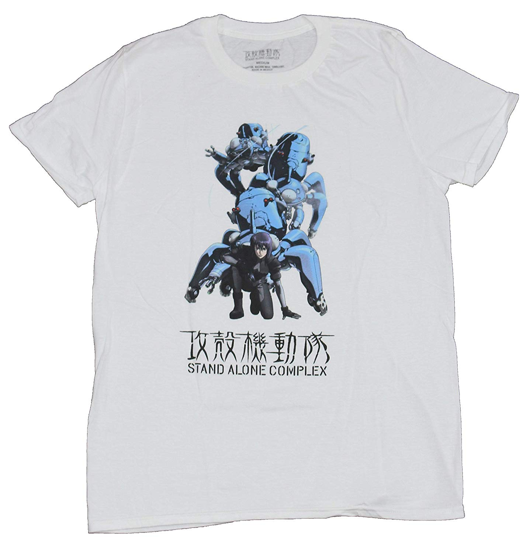 Camiseta para hombre GE GHOST IN THE Shell de complejo independiente, Motoko Kusanagi Tachikoma, camiseta estampada para hombre, camiseta, ropa, Top