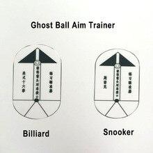 Free shipp 2pcs/set New Billiards Pool Ghost Ball Aim Trainer Snooker Ghost Ball Aim Trainers Billiards Snooker Accessories