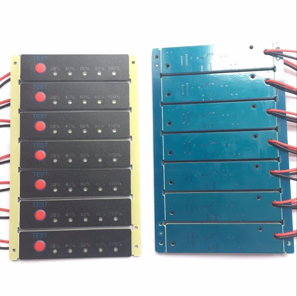 5 шт./лот 1s 2s 3s 4S 5S 6s 7s 8s 9s 10s 11s 12s 13s 14s 15s 16s литий-ионный аккумулятор тестер измеритель емкости аккумулятора
