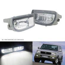 Toyota Land Cruiser Amazon 1998-2007 용 30W HB4 LED 전구가있는 ANGRONG 2Pcs 전면 안개등