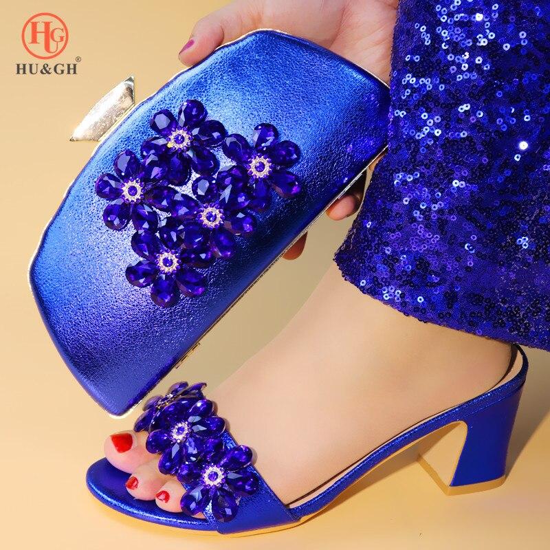 2019 de moda italiano zapatos con bolsos a juego para mujeres zapatos y Bolsa Africana establece 2019 Zapatillas Zapatos para mujeres zapatos de verano