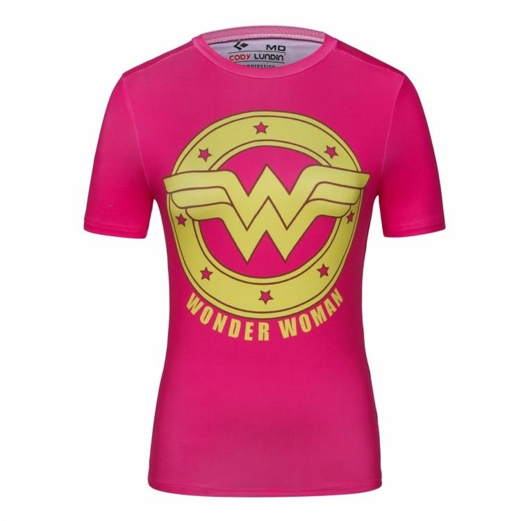 Camiseta de manga corta para mujer, de Plume rojo, Superhéroes, para correr, Yoga, camisetas de compresión