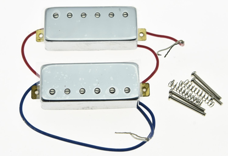 Chrome LP Gitarre Mini Humbucker Neck Brücke Pickup Set 6,5 karat Pickups für LP