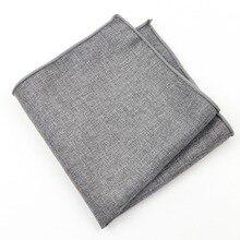 Pañuelos pañuelos de algodón de Color liso pañuelos cuadrados de bolsillo para hombre