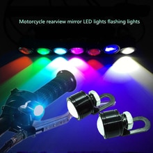 AEING 2 pezzi impermeabile per montaggio su specchio per moto LED per auto luce di marcia diurna DRL bianco/rosso/blu ghiaccio/rosa/verde/giallo