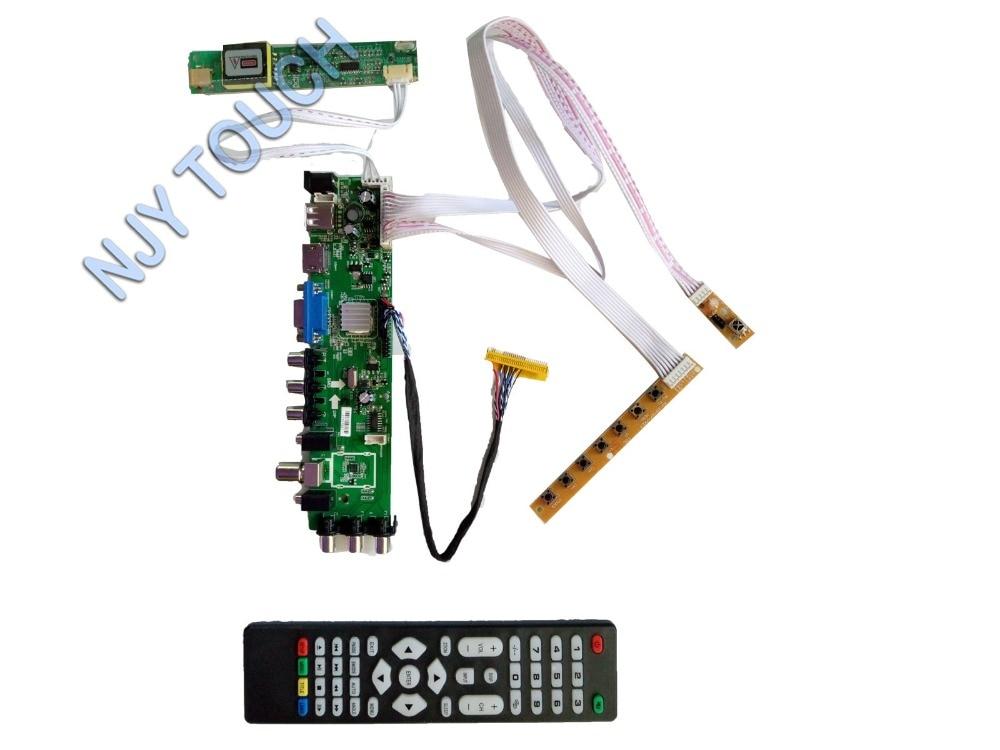 Z. VST.3663 DVB-T2 DVB-C DVB-T LCD kit Placa Controladora Para LP141WX3 Tela 1280X800