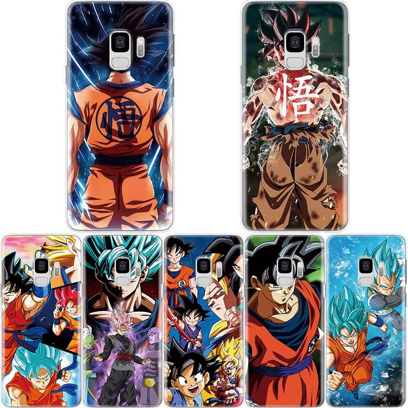 Caso de la historieta para TPU Samsung Galaxy S10e S9 S8 S7 S6 más M10 M20 para Samsung A6 A7 A8 A9 2017 de 2018 de Dragon Ball Z Super DBZ Goku