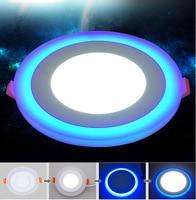 1pcs Hot sales LED Panel Downlight 6W 9W 16W 24W 3 Model Panel Light AC85-265V Recessed Ceiling Lamp Aluminum led Ceiling lamp