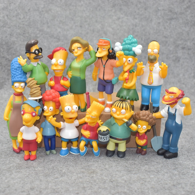 Anime Spielzeug 14 teile/satz Familie Simpsons PVC Figuren Sammeln Modell Spielzeug