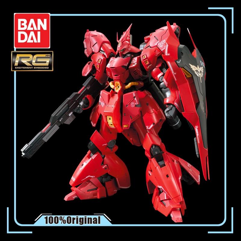 Bandai montado modelo gundam rg 29 1/144 MSN-04 sazabi sharjah gundam figura de ação crianças brinquedo presentes