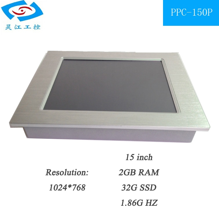 15 inch touch screen Industrial tablet pc With wifi 2*LAN RJ45 3*USB 4*COM all in one pc mini fanless Computer enlarge