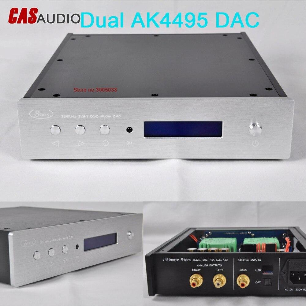 XMOS U208 Dual AK4495SEQ AK4118 DAC AK4495 DAC 32bit 384K DSD DAC con RC,TALEMA XMOS XU208,110V/220V AC In, sonido increíble