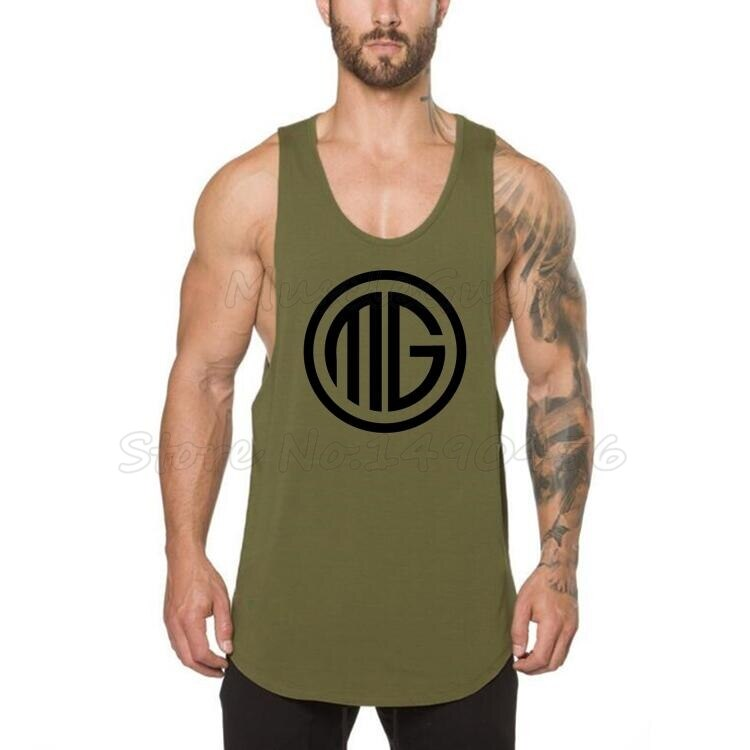 Marca Muscleguys, ropa de Fitness para hombres, Camiseta de tirantes, camiseta de culturismo, camisetas sin mangas para musculosos, camisetas de algodón, tanktop