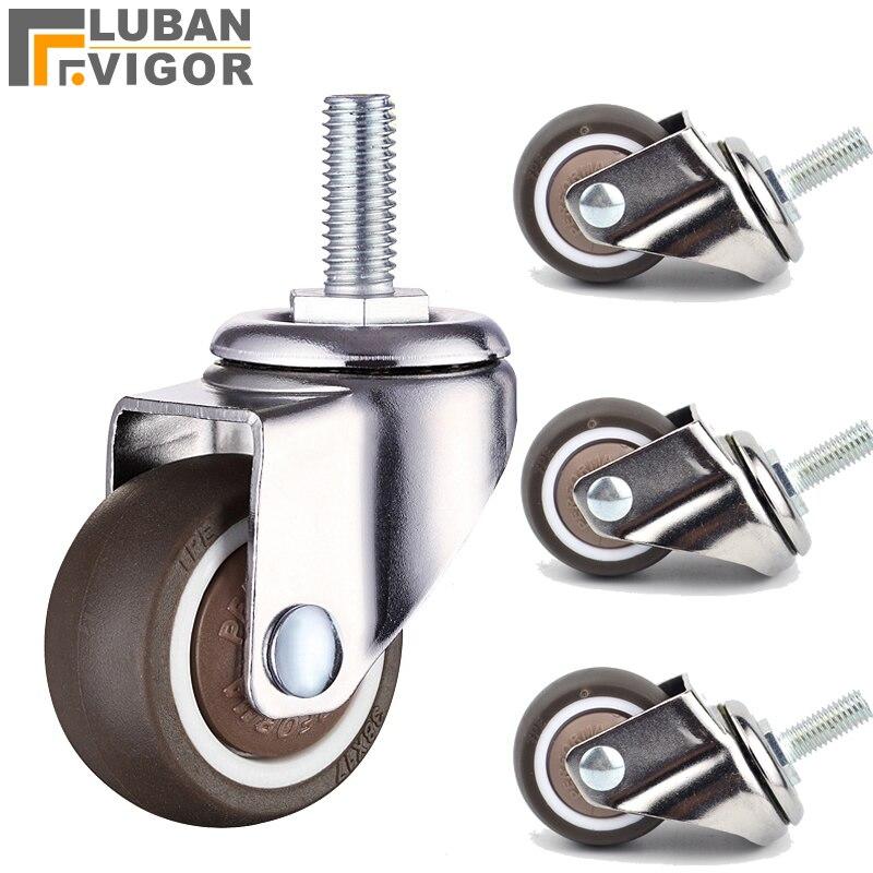 Super mute wheels/casters,TPE wheel diameter,Anti-wrap wheel,bear 20/30/40kg,For furniture,sofa,Showcase,home hardware