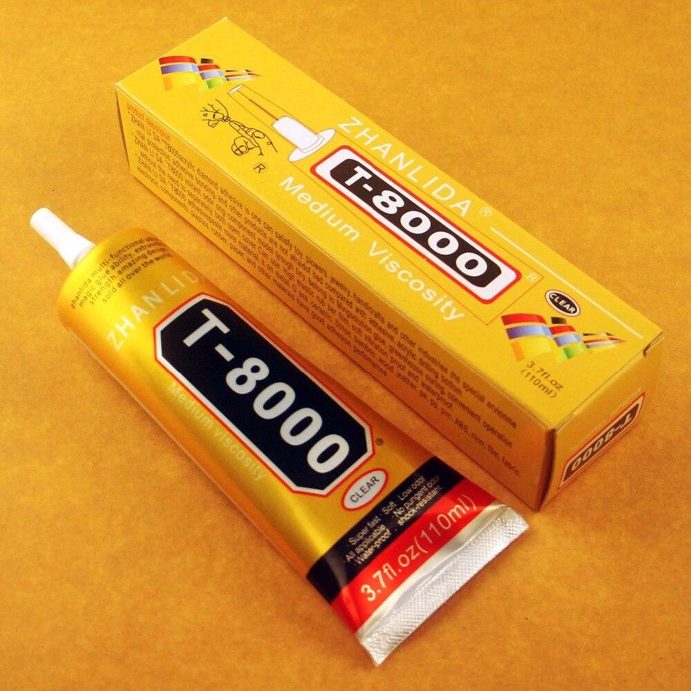 Atacadista 5 Pcs T-8000 110 ml Cola Multiusos Adesivo Epóxi Resina Artesanato Diy Telefone Celular de Tela de Toque De Vidro Super cola T8000
