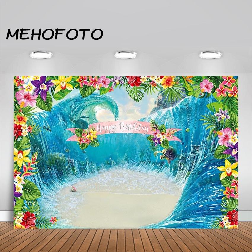 Mehofoto luau plano de fundo da festa de aniversário, moana, festa, decoração, backdrops